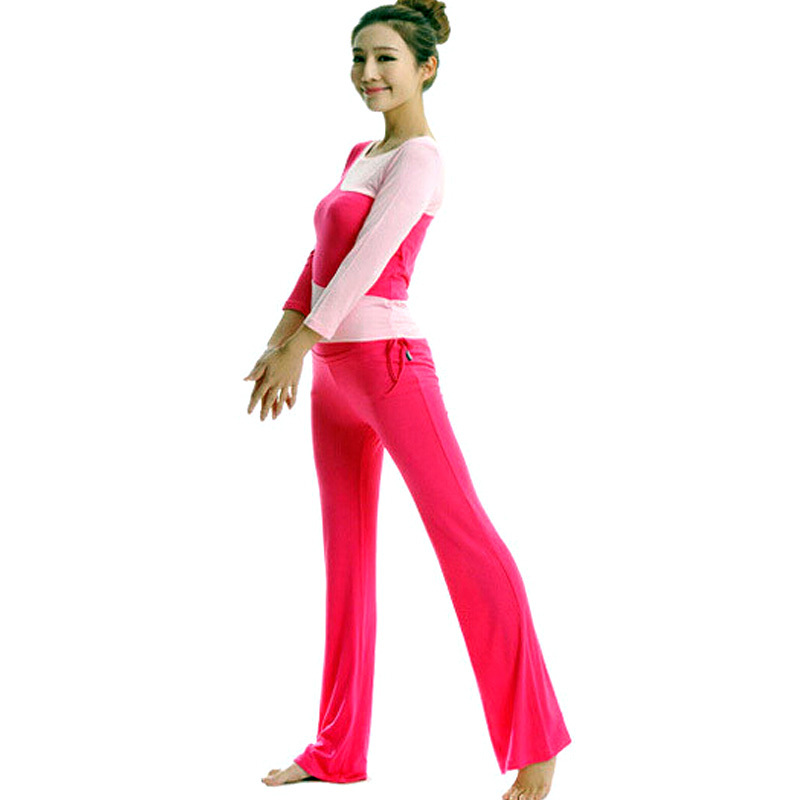 2015 New Special Fashionable Women Sports Casual Pants Yoga Clothes Long Sleeve Suit Modal Positive Yoga Dance Fitness Apparel()