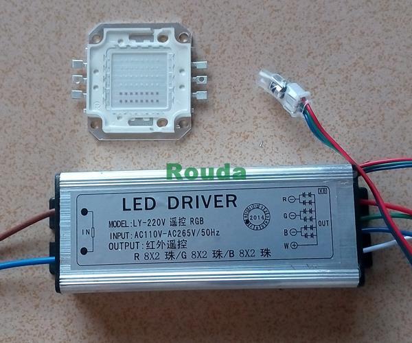 50W High Power LED Chip Full Color LED RGB + 50W High Power RGB LED Driver(China (Mainland))