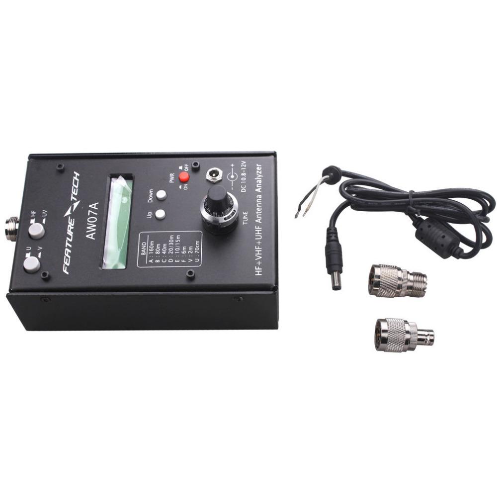 Ham hf antenna analyzer aw07a digital swr meter vhf uhf radio electric frequency counter diy tester kit(China (Mainland))