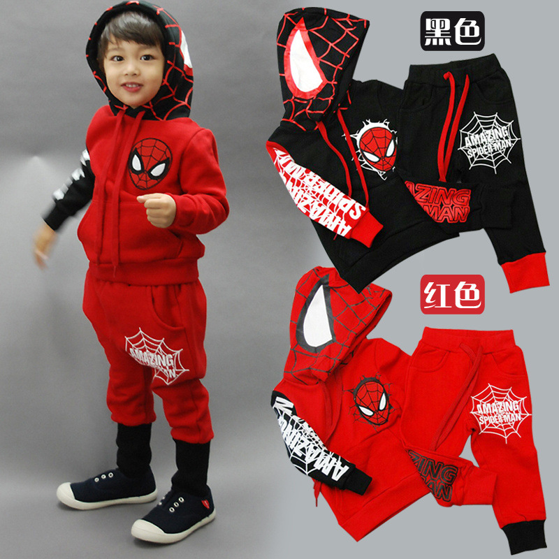 Spiderman Children Boys Clothing set Baby Boy Spider man Sports Suits 2-6 Years Kids 2pcs Sets Spring Autumn Clothes Tracksuits(China (Mainland))