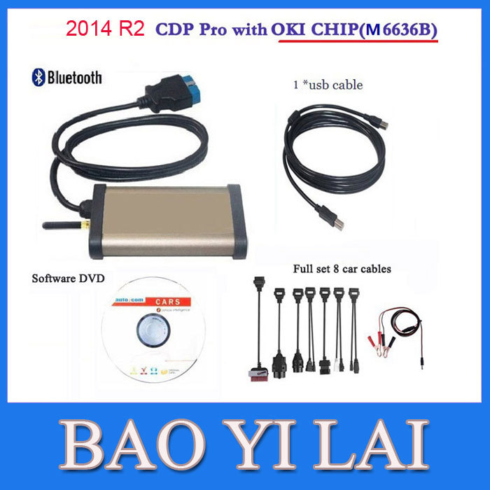 Newest 2014 R2 Car CDP Pro For AUTOCOM Cars & trucks(Compact Diagnostic Partner ) OKI CHIP Car diagnostic tool OBD Scanner(China (Mainland))