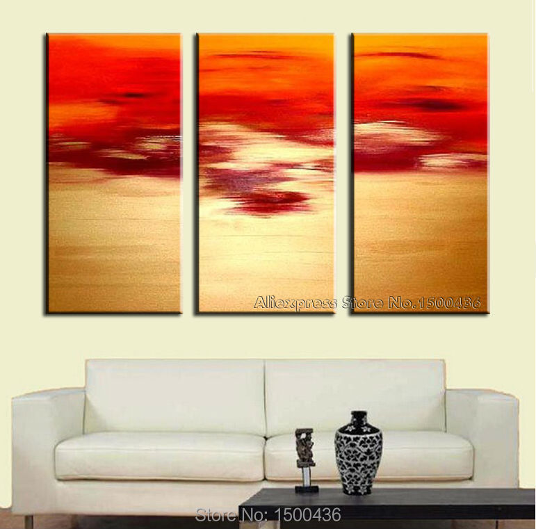 Aliexpress Com Buy 3 Piece Canvas Art Home Decoration: Aliexpress.com : Buy Hand Painted Modern Abstract Painting