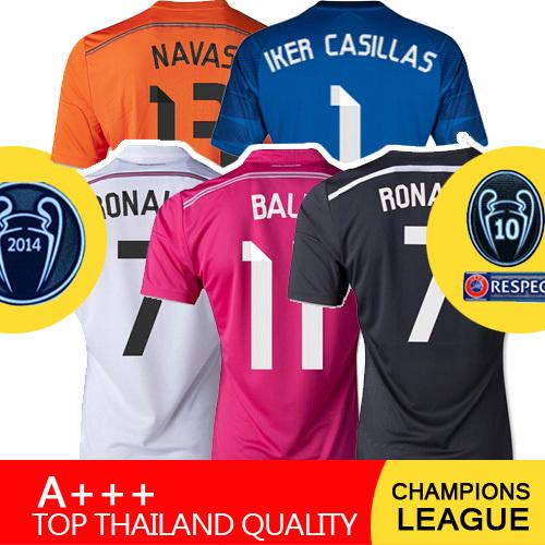 JAMES KROOS Camiseta Real Madrid Jersey 2015 Pink Black Bale BENZEMA Maillot Camisa Real Madrid Champions League 14 15 Jersey(China (Mainland))