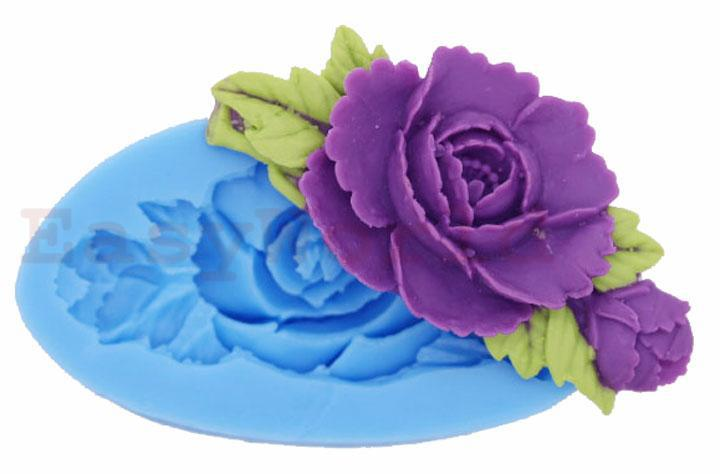 Rose Flower Silicone Molding Mould For Polymer Clay Craft Jewellry 70mm(China (Mainland))