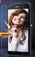Amazing 9H 0.3mm 2.5D Nanometer Tempered Glass screen protector for Sony Xperia E4G E2033 E2003 E2053 E2006 E2043