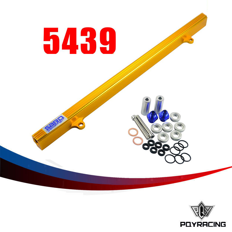 PQY- GOLD SARD STYLE FUEL RIAL KIT FOR NISSAN R32 R33 R34 RB25DET RB25 SKYLINE GTR HIGH FLOW INJECTION FUEL RAIL PQY5439G(China (Mainland))