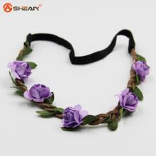 Hair Accessories Girls Headbands Rose Flowers Crown Wedding Hair Accessory Flores Headband for Women Headwear(China (Mainland))