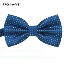 Fashion Bow Tie 2016 New Formal Party Apparel Accessory Mens Ties Spot Style Multicolor Butterfly   Polyester Dot gents Bowtie(China (Mainland))