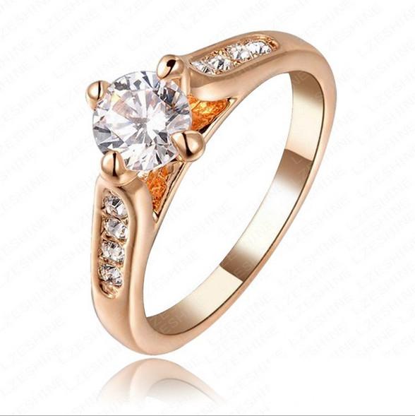 : Acheter Cz Diamond Rock anneau de mariage 18 K plaqué or partie de ...