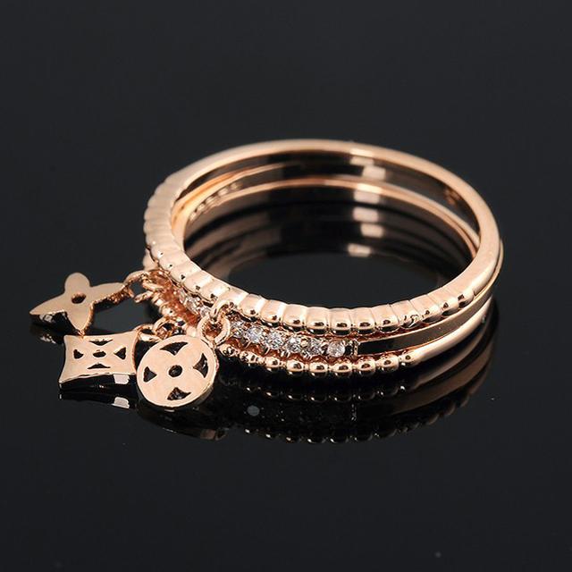 Бесплатная Доставка 3 шт./лот 18 К Роуз Позолоченные Кольцо Подлинная Кристалл Кольцо ...