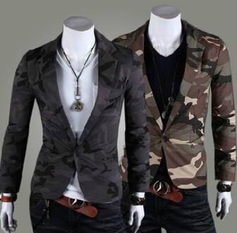 Пиджак мужчины военный стиль камуфляж торговли хлопок свободного покроя приталенный ...