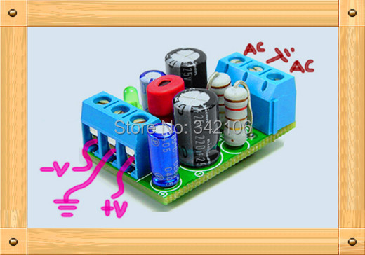 Free Shipping!!! Power board preamp / dedicated linear regulator / small power board / chip level(China (Mainland))