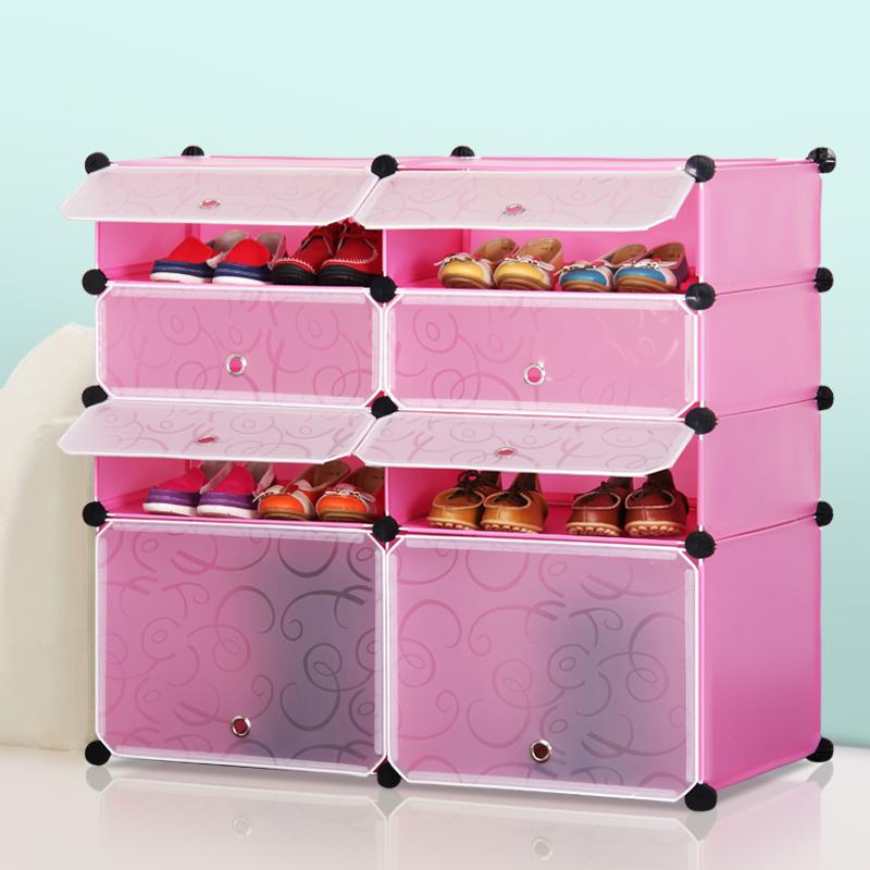Фотография Creative modern minimalist shoe assembly multilayer plastic dust container folding rack simple combination