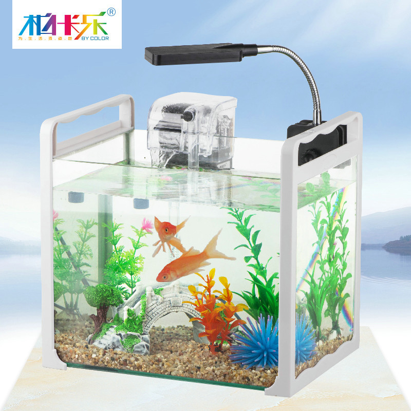 Portable mini fish tank aquarium turtle aquarium tank glass small ...