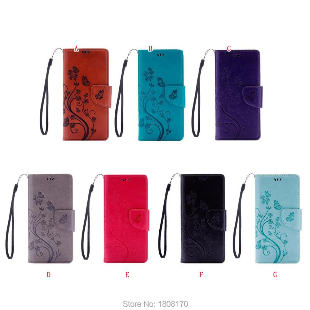 Flower Flip Wallet Leather Pouch Case For Sony Ericsson Xperia XA X Performance XP Strap Chain Butterfly TPU Soft Cover 10pcs(China (Mainland))