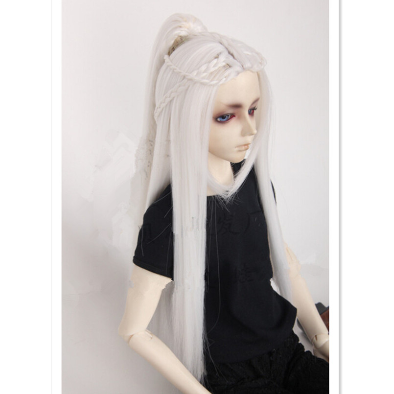 (21.5-24 cm) 1/3 BJD Doll Wigs Vintage Style Long Straight Doll Hair for Dolls,High Temperature for BJD Wig 3 Colors for Choice