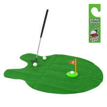 New Toilet Bathroom Mini Golf Potty Putter Game Men's Toy Novelty Gift(China (Mainland))