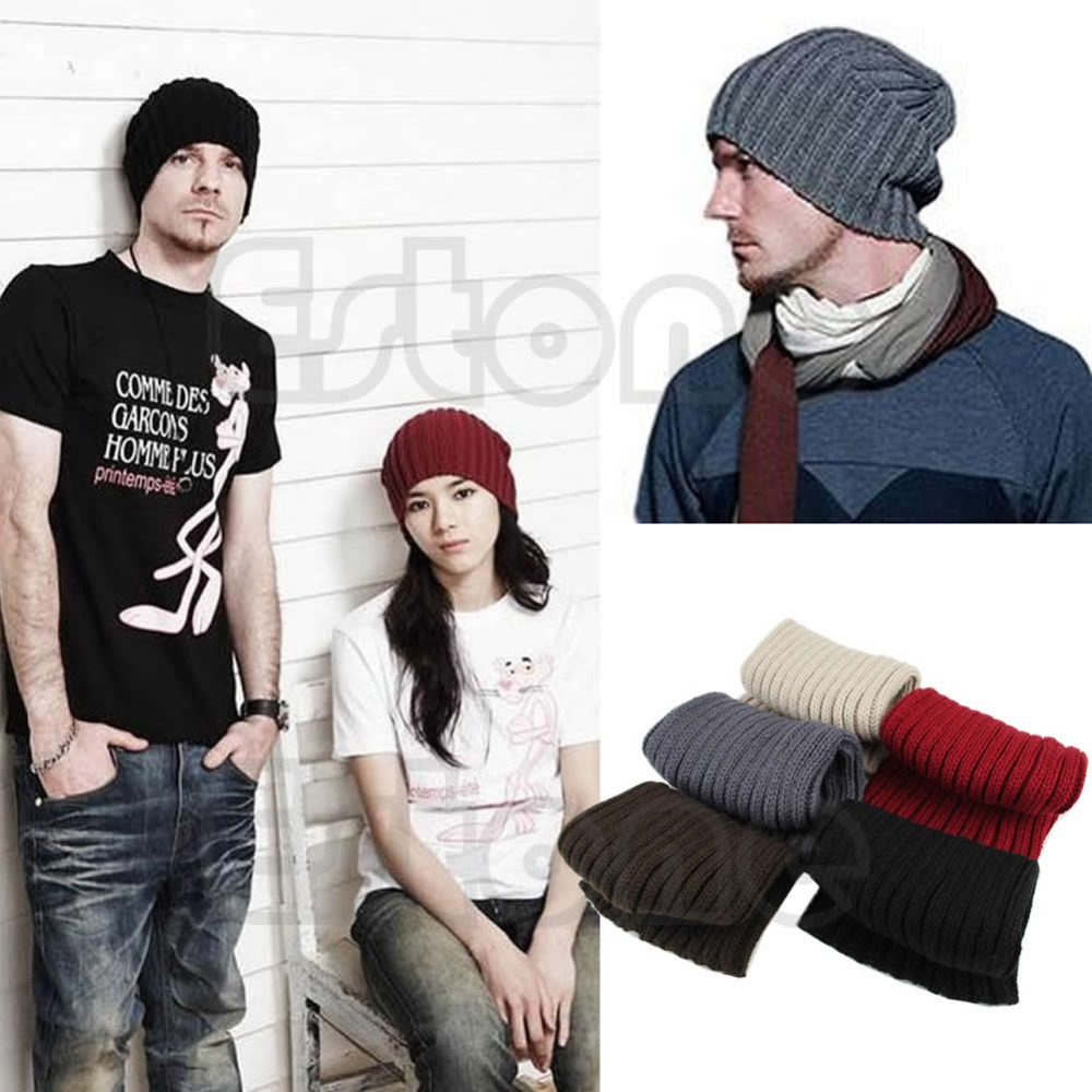 Hot Men Stylish Hip Hop Warm Winter Wool Knit Ski Unisex Beanie Skull Cap Hat Free
