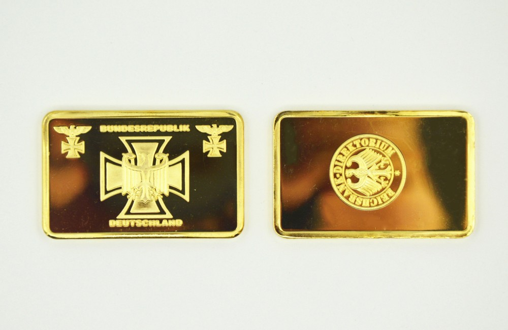 Latest Products Bundesrepublik Deuschland Challenge Gold Bar/Coin Deustche 24k Gold Clad Bullion Bar Germany Commemorative Gifts(China (Mainland))