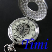 Vintage Delicacy Carved Mechanical Silver Pocket Watch(China (Mainland))
