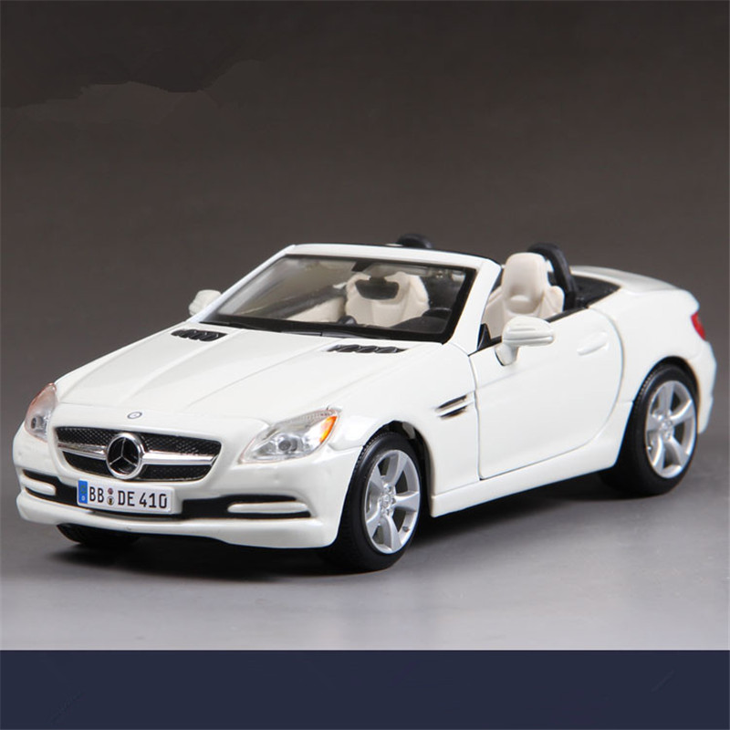 Maisto 1:24 Diecast Metal Cars Toys, BENZ SLK-class Simulation Alloy Sportcar Models, Car Toys For Boys, Kids Toys / Brinquedos(China (Mainland))