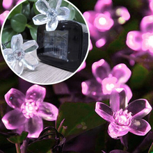7M 50 LED String Lights Cherry Blossom Christmas Wedding Party Holiday Decoration Lightings Solar Battery R050 - Amy' Store store
