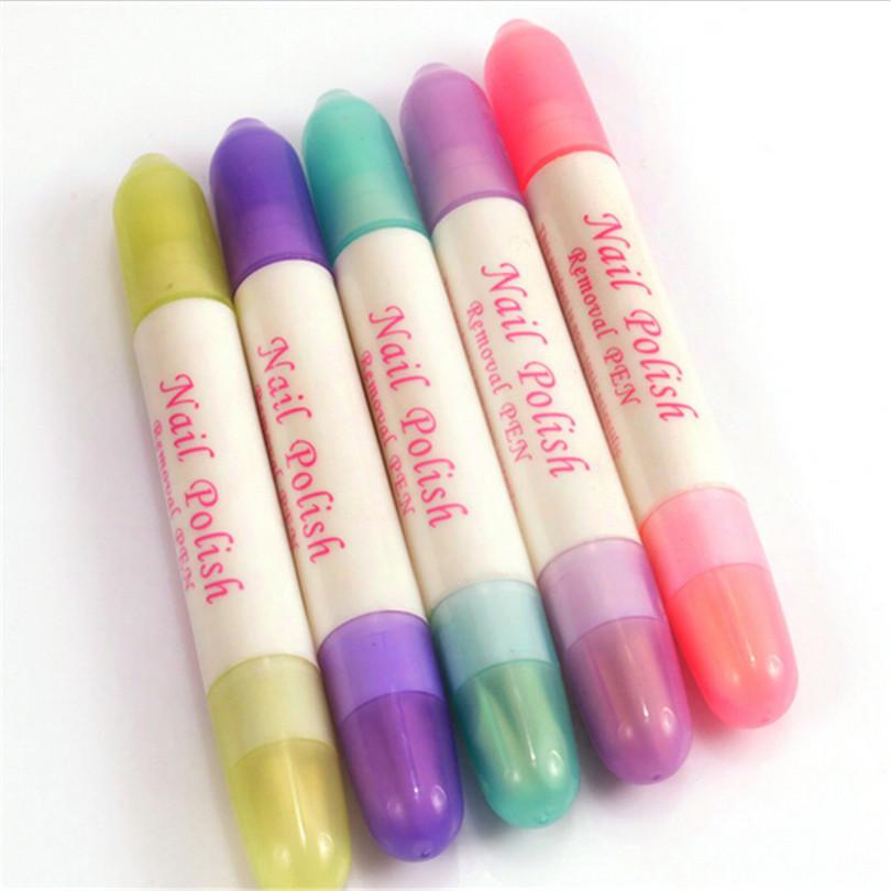 Random Color Nail Art Corrector Pen Remove Mistakes + 3