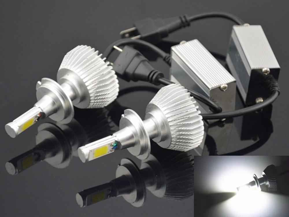 2PCS H1 H3 H4 H7 H11 40W 80W 6000K 12V/24V LED Headlight Conversion Kit Head Car Xenon White Lamp High Low Kit Globes Bulbs(China (Mainland))