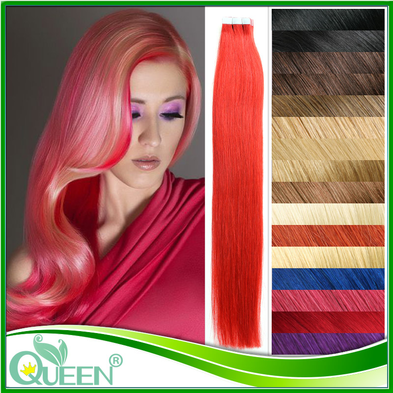20'' 6A Remy Tape Skin Weft Tape Hair Extensions Hot Selling Brazilian Remy Hair 20pcs Tape Straight Hair Brazilian Virgin Hair