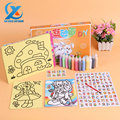 Cartoon Handmade DIY Sand Painting Tools Kit Colorful Sand Painting Drawing Children Educational Toys for Kids