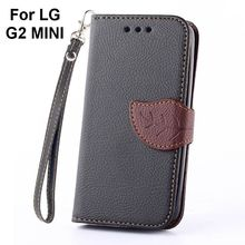 Luxury PU Leather Skin Flip Stand Case For LG G2 MINI D618 D620 D620K Phone Shell Leaf Pouch Wallet Handbag+Lanyard+Card Slot