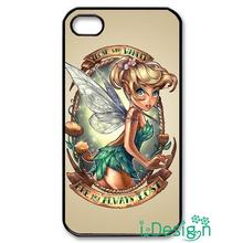 Fit for Samsung Galaxy mini S3/4/5/6/7 edge plus+ Note2/3/4/5 back skins cellphone case cover tinkerbell tattoo