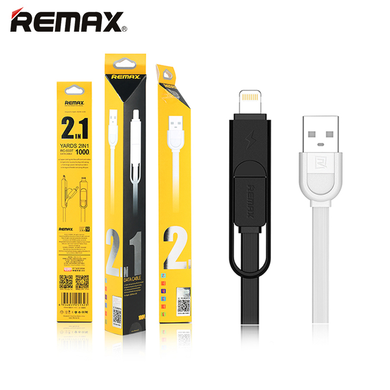 2 in 1 Remax Micro USB font b Cable b font 1M Charging font b Mobile