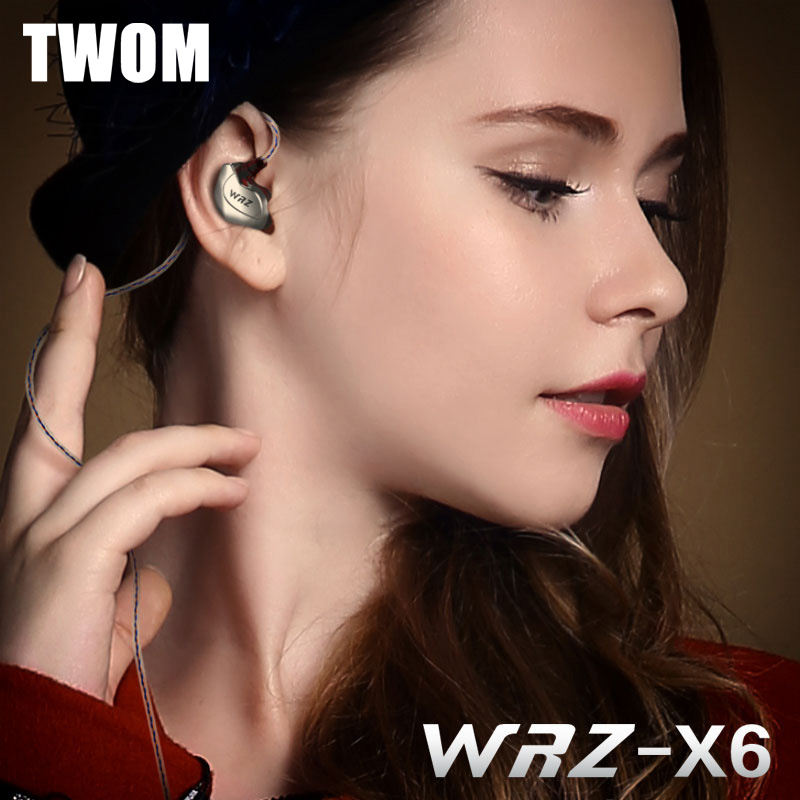 TWOM X6 Sport In Ear Earphones for Mobile Phone with Microphone Earpiece DJ Stereo BASS HiFi Universal Wired Running Earbuds(China (Mainland))