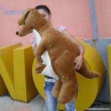 new huge stuffed kangaroo toy big plush lovely kangaroo doll gift about 120cm(China (Mainland))
