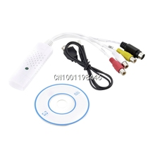 1pc Promotion Price New USB 2.0 tv dvd vhs video Capture adapter Easy cap card Audio AV mmm for win7 Fast
