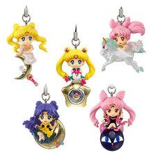 Anime 5PCS/SET Twinkle Dolly Sailor Moon Mini PVC Action Figures Brinquedos Collectible Model Toys Dolls Pendants