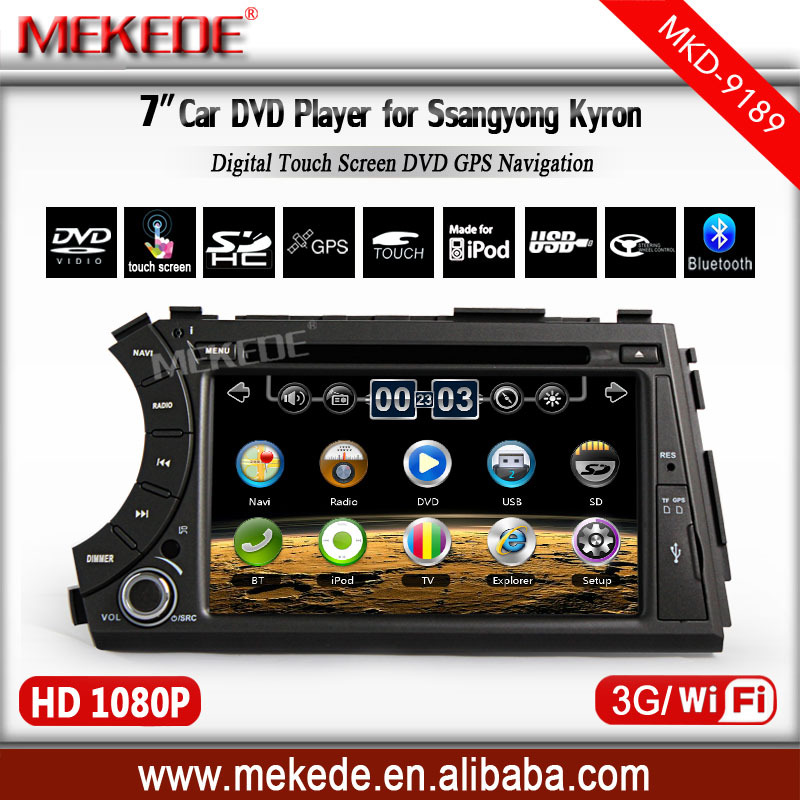 special Ssangyong Actyon Kyron car DVD with GPS navigation, bluetooth, SD USB car radio for ssangyong +free MAP+3G HOST+WIFI()