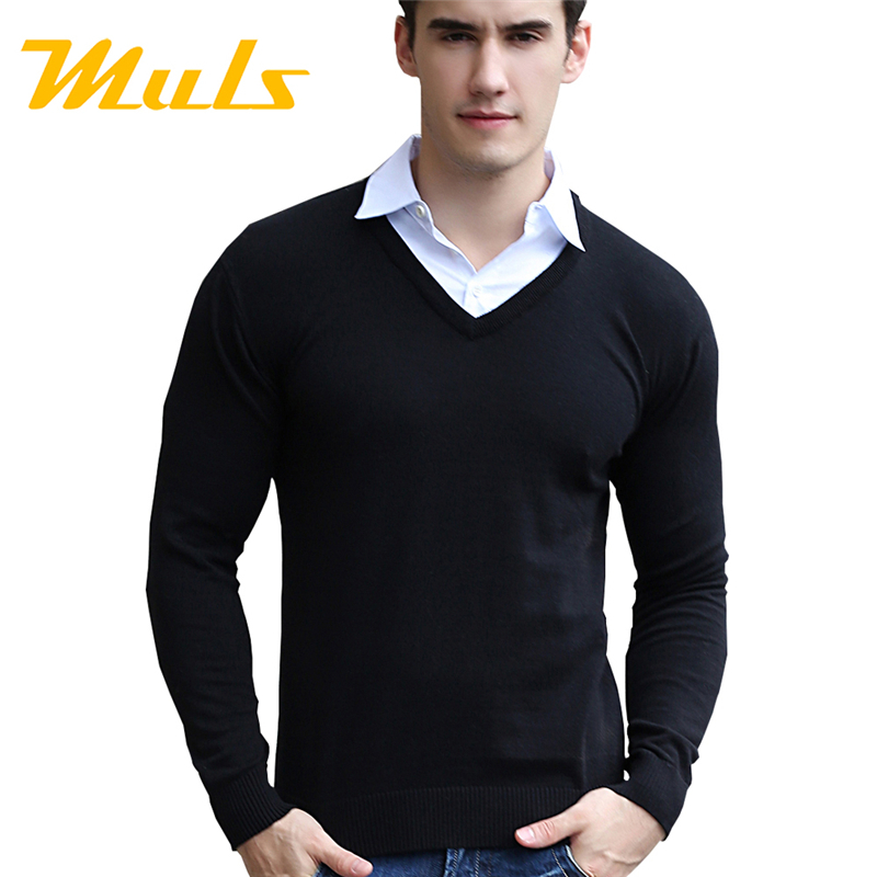 Pullover sweater men cotton computer Knitted spring mens sweaters man V Neck MULS brand stone polo sueter 2015 ea7 free shipping(China (Mainland))