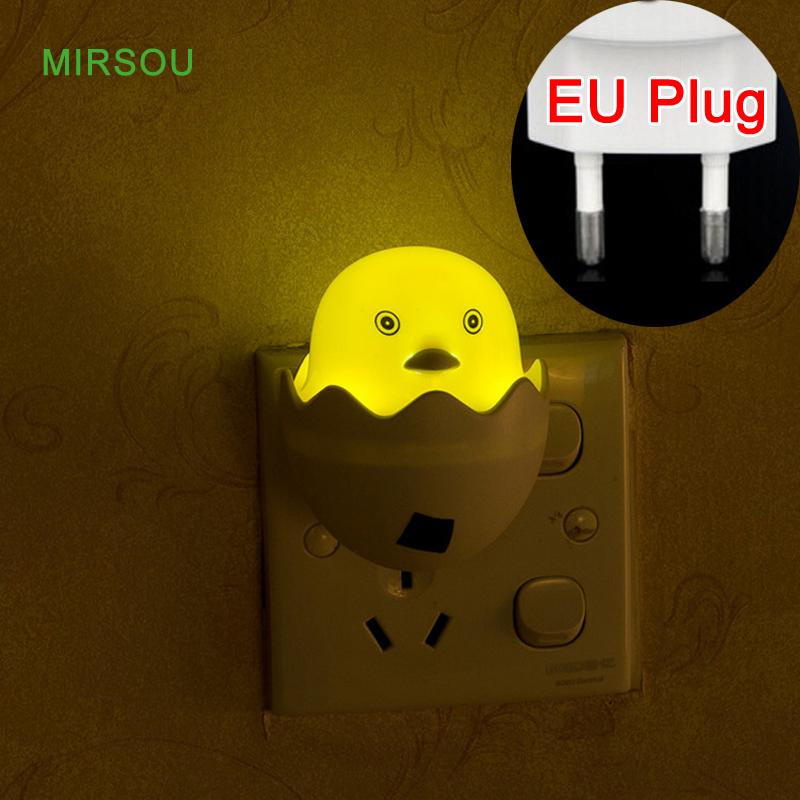 MIRSOU EU Plug Duck Wall Light LED Bulb Light sensor LED Night Light LED Bedroom Lamp AC110-220V(China (Mainland))