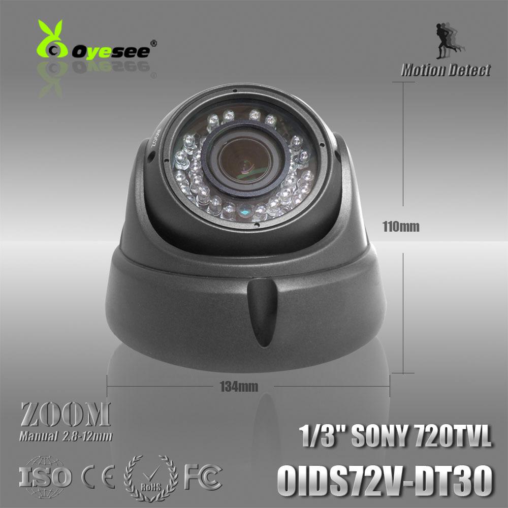 """OIDS72V-DT30 1/3"""" CCD 720TVL 2.8-12mm manual zoom lens CCTV Security camera with 36pcs IR LED miniature cctv cameras(China (Mainland))"""