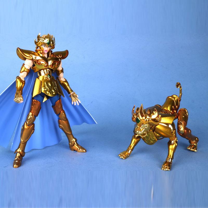 IN-STOCK/ Saint Seiya /metalclub MC model /Galaxy Horoscopes Myth EX Gold Saint Leo Aiolia Metal feet(China (Mainland))