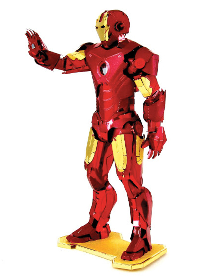 MARVEL Hero Iron Man DIY 3D Jigsaw puzzle 3d metal puzzle kids toys present for children adults free shipping vs metal earth(China (Mainland))