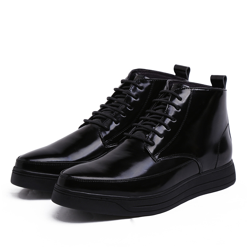 GRIMENTIN fashion italian dress mens ankle boots genuine leather black men shoes luxury brand flats outdoor casual boots bo279(China (Mainland))