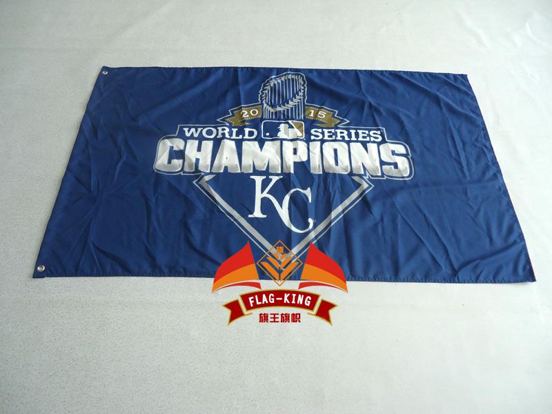 Kansas City Royals 2015 World Series Champs Flag and MLB Banner 3X5FT(China (Mainland))