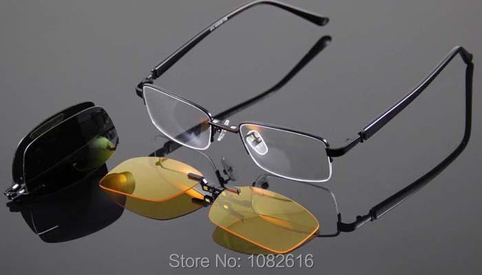 משקפיים מסגרות משקפיים, גברים נשים משקפיים מסגרת משקפי מסגרות קליפ על משקפי שמש מקוטב משקפי שמש צהובה ראיית לילה