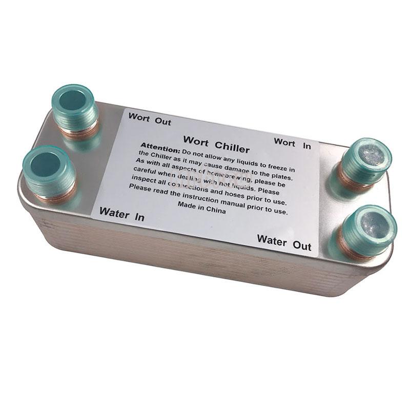 "20 Plates Wort Chiller,Plate heat exchanger,Stainless Steel 304, Brewing Chiller, 1/2"" Garden hose Thread(China (Mainland))"
