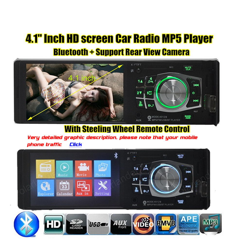 4.1 Inch Built-4016C Car Video Player Car MP5 Player LCD Viewing Angle Display Full High Definition Player Car Audio Best Price(China (Mainland))