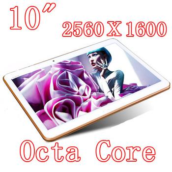 Планшет пк 10.1 дюймов Octa ядра 2560 X 1600 DDR3 4 ГБ ram 32 ГБ 8.0MP камера 3 г сим-карты Wcdma + GSM таблетки шт Android4.4