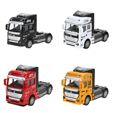 Buy 1:32 Scale Children Toy Car Alloy Truck Head Pull Back Cars Diecast Model Kids Toys New Year Collection Gift Boys for $4.29 in AliExpress store